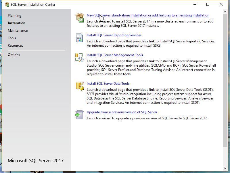 Install SQL server Standalone Version