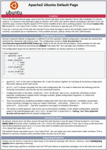 Ubuntu Apache2 Default Page